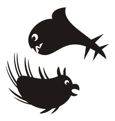 Sea monsters vector