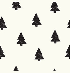 seamless pattern with winter christmas vector image
