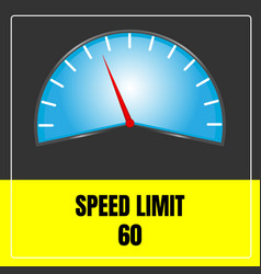 Speed limit sign use for transport vector