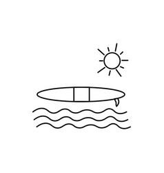 surf icon vector image