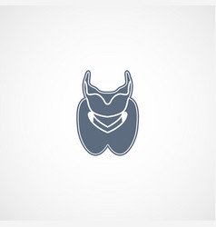 Thyroid logo icon design vector