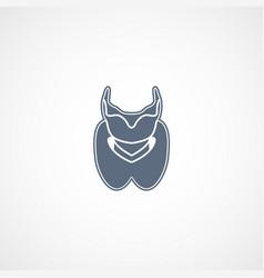 thyroid logo icon design vector image