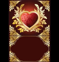 Valentine heart boarder vector