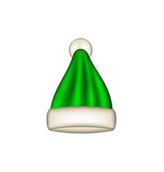 winter cap in green design vector image vector image