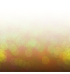 Yellow bokeh lights vector image vector image