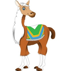 Cartoon lama vector