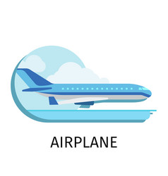 Airplane in flat style vector