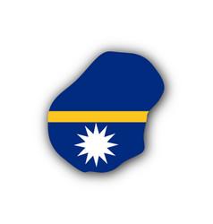 Map and flag of nauru vector