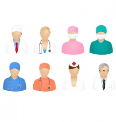Medical people icons vector