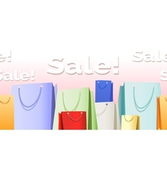 Sale bags pattern vector