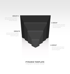 Design pyramid infographic template black color vector