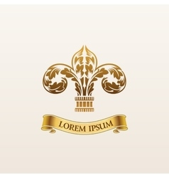 Vintage luxury gold emblem elegant vector