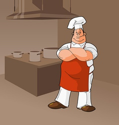 Cook in a kitchen clip art vector