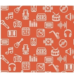 Music background outline icon set vector