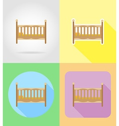 baby flat icons 07 vector image vector image