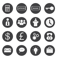 business icons set eps 10 vector image vector image