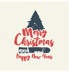 Christmas text quote calligraphy tree vector