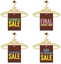 Clothes Hangers With Sale Tag vector image vector image