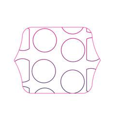 Color edge quadrate with memphis geometric figure vector