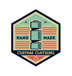 custom clothing studio vintage isolated label vector image vector image