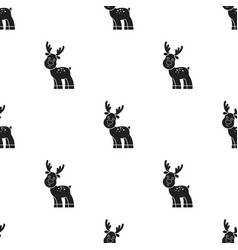 Deer black icon for web and mobile vector