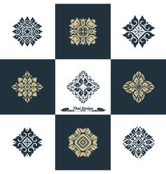 Design luxury template set swash elements art vint vector