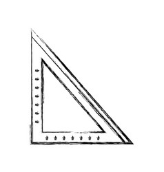 Figure square ruler school tool to study vector