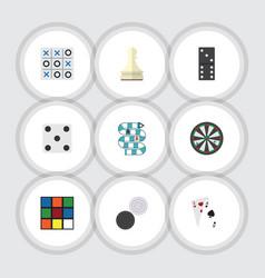 Flat icon games set of xo backgammon bones game vector