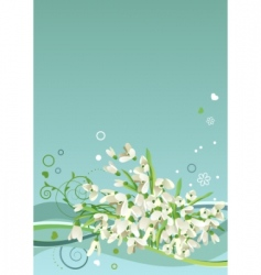 frame with snowdrops vector image