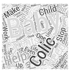 Help for colic word cloud concept vector