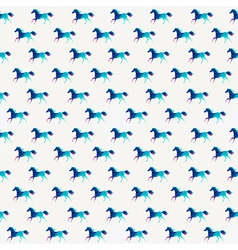 Horse seamless pattern triangle horse Abstract vector image