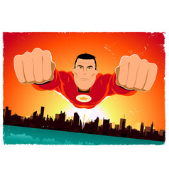 Its a bird - flying super hero vector