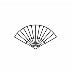 Japanese fan icon outline style vector image