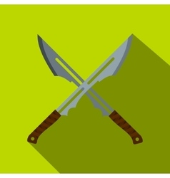 Japanese short swords icon flat style vector image vector image