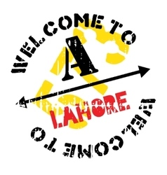 Lahore stamp rubber grunge vector
