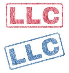 Llc textile stamps vector