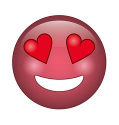 Love emoticon style icon vector