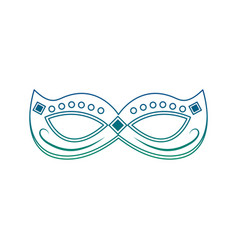 Mardi gras mask with jewelry decoration festive vector