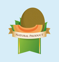 Melon natural product label vector