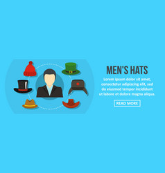 men hats banner horizontal concept vector image