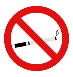 no smoking vector image vector image