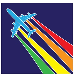 plane symbol colorful vector image vector image