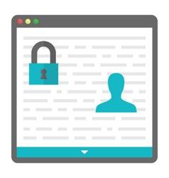 Privacy icon vector