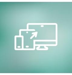 Responsive web design thin line icon vector image vector image