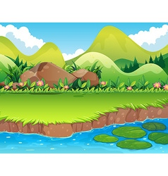 River bank vector image vector image