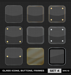 Set Of Colorful App Icon Frames Templates Buttons vector image