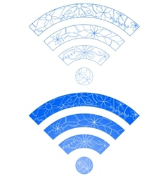 Set of wi-fi signs vector image vector image