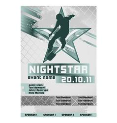 sport event poster skateboarding vector image vector image