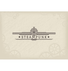 Steampunk Label vector image