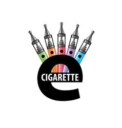 Logo electronic cigarette vector